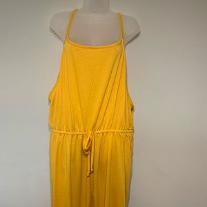 NWT 3X Mustard Jumpsuit Plus Size
